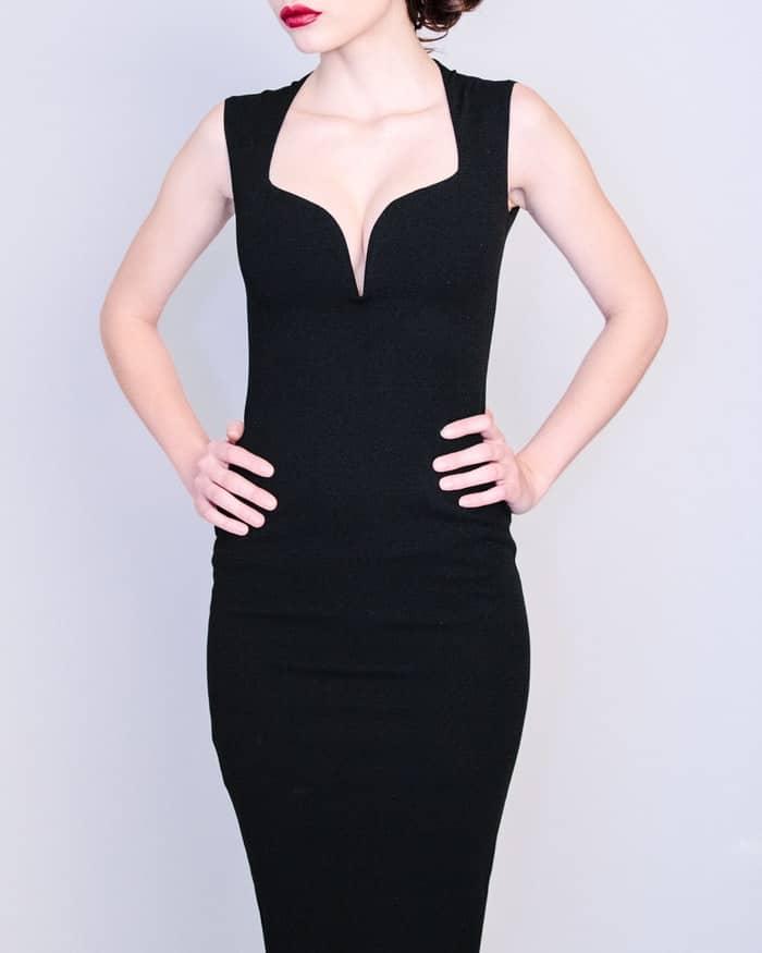 robe noire bustier