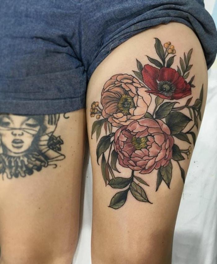 Tatuaje de peonía