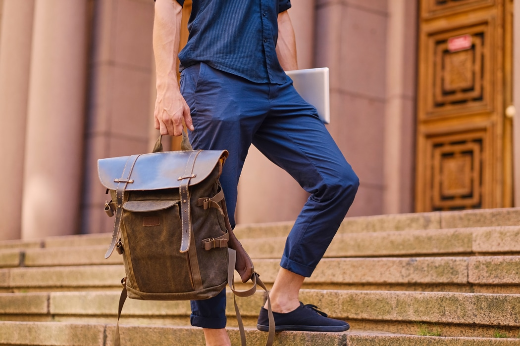 sac a dos homme cuir