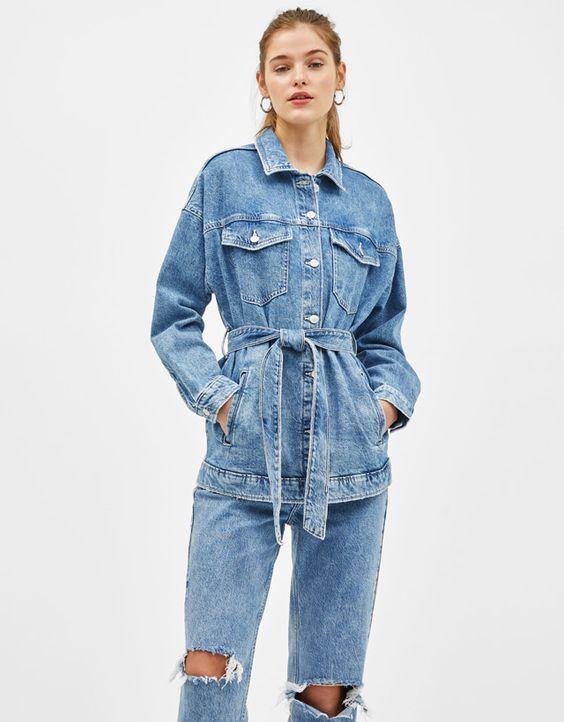 comment porter la veste en jean longue total look denim