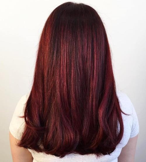 coloration auburn rouge